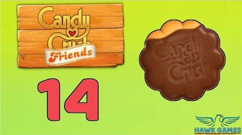 Candy Crush Friends Saga Level 14 (Cookie mode) - 3 Stars Walkthrough, No Boosters