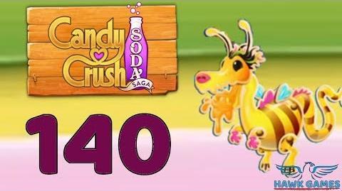 Candy Crush Soda Saga 🍾 Level 140 Hard (Honey mode) - 3 Stars Walkthrough, No Boosters