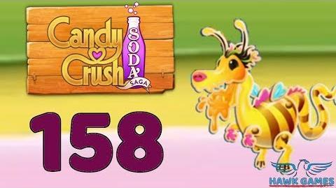 Candy Crush Soda Saga 🍾 Level 158 Hard (Honey mode) - 3 Stars Walkthrough, No Boosters