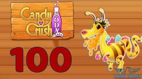 Candy Crush Soda Saga Level 100 Super Hard (Honey mode) - 3 Stars Walkthrough, No Boosters