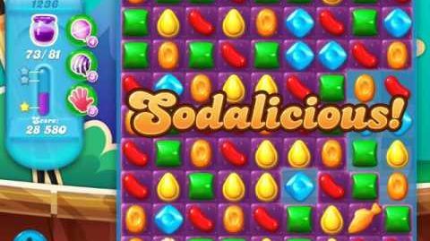 Candy Crush Soda Saga Level 1236 (2nd nerfed, 3 Stars)