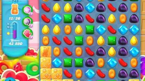 Candy Crush Soda Saga Level 745 (5th version, 3 Stars)