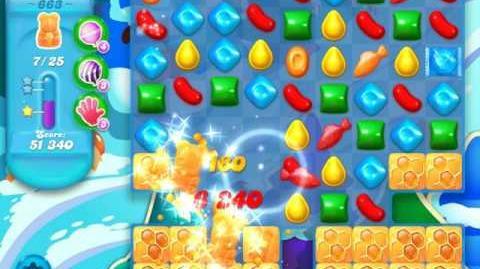 Candy Crush Soda Saga Level 663 (5th version, 3 Stars)