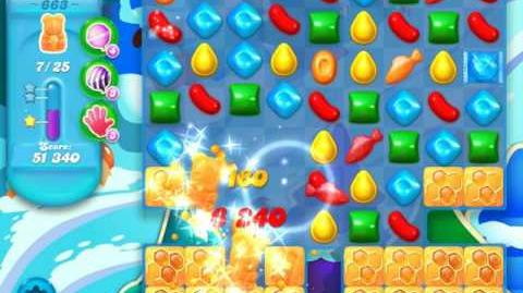 Candy Crush Soda Saga Level 663 (5th version, 3 Stars)