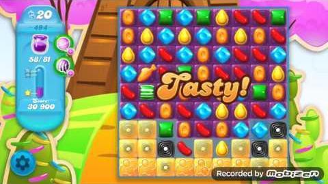 Candy Crush Soda Saga Level 494 (nerfed, 3 Stars)