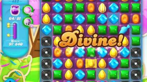 Candy Crush Soda Saga Level 482 (2nd version, 3 Stars)