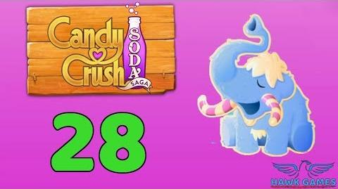 Candy Crush Soda Saga Level 28 (Frosting mode) - 3 Stars Walkthrough, No Boosters