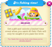 Fishing tournament message