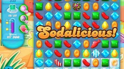 Candy Crush Soda Saga Level 845 (7th version, 3 Stars)