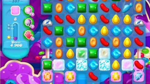 Candy Crush Soda Saga Level 597 (6th version, 3 Stars)