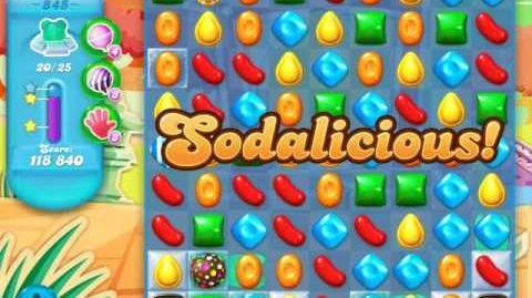 Candy Crush Soda Saga Level 845 (nerfed, 3 Stars)