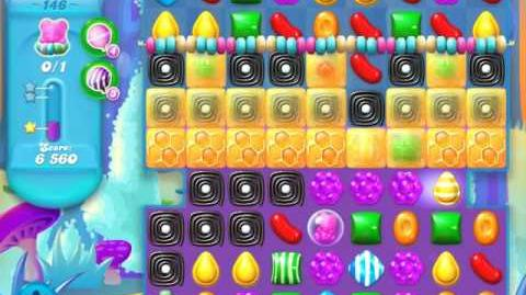 Candy Crush Soda Saga Level 146 (nerfed, 3 Stars)