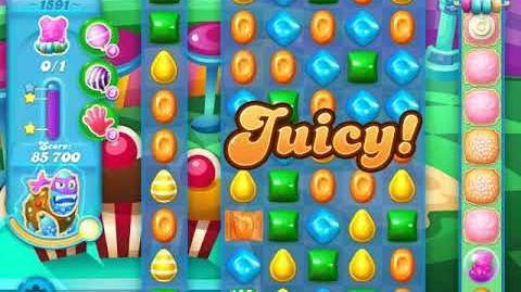 Candy Crush Soda Saga Level 1591 (2nd buffed, 3 Stars)
