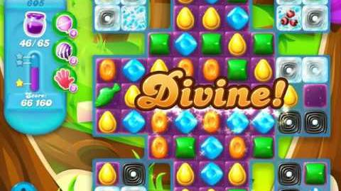 Candy Crush Soda Saga Level 605 (6th version, 3 Stars)