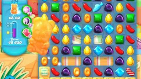 Candy Crush Soda Saga Level 834 (2nd nerfed, 3 Stars)