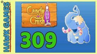 Candy Crush Soda Saga Level 309 (Frosting mode) - 3 Stars Walkthrough, No Boosters