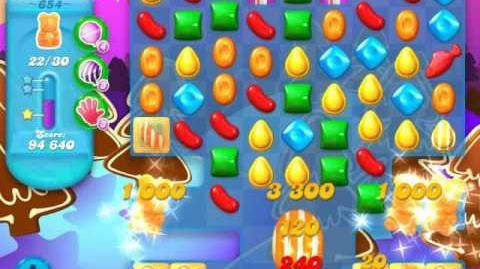 Candy Crush Soda Saga Level 654 (2nd nerfed)