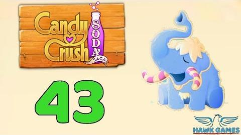 Candy Crush Soda Saga Level 43 (Frosting mode) - 3 Stars Walkthrough, No Boosters