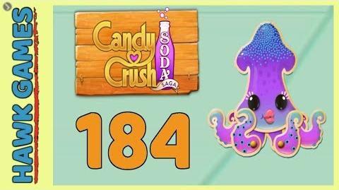 Candy Crush Soda Saga Level 184 (Soda mode) - 3 Stars Walkthrough, No Boosters