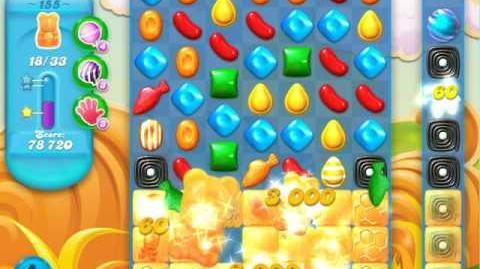 Candy Crush Soda Saga Level 155 (10th version, 3 Stars)