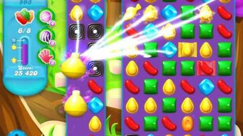 Candy Crush Soda Saga Level 593 (buffed, 3 Stars)