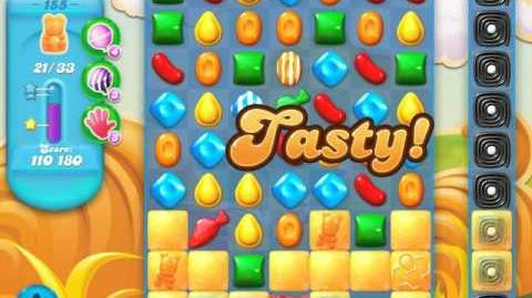 Candy Crush Soda Saga Level 155 (7th version, 3 Stars)