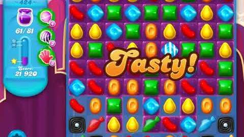 Candy Crush Soda Saga Level 424 (4th version, 3 Stars)
