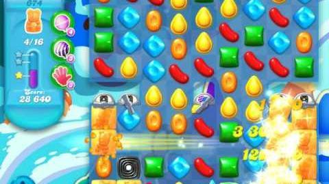 Candy Crush Soda Saga Level 674 (buffed, 3 Stars)