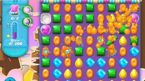 Candy Crush Soda Saga Level 63 (nerfed, 3 Stars)