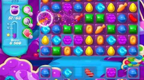 Candy Crush Soda Saga Level 629 (3rd version, 3 Stars)