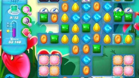 Candy Crush Soda Saga Level 1487 (4th version, 3 Stars)