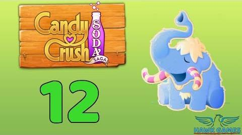 Candy Crush Soda Saga Level 12 (Frosting mode) - 3 Stars Walkthrough, No Boosters