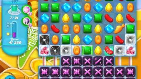 Candy Crush Soda Saga Level 497 (nerfed, 3 Stars)