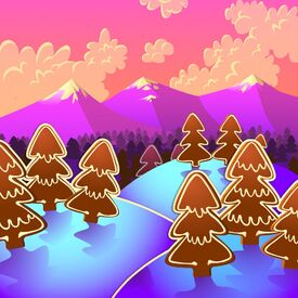 Gingerbread Pines background