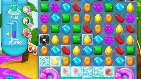 Candy Crush Soda Saga Level 708 (nerfed, 3 Stars)