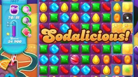 Candy Crush Soda Saga Level 1087 (6th version, 3 Stars)