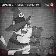 Wilbur taking Candy Bear