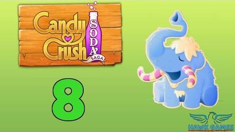 Candy Crush Soda Saga Level 8 (Frosting mode) - 3 Stars Walkthrough, No Boosters