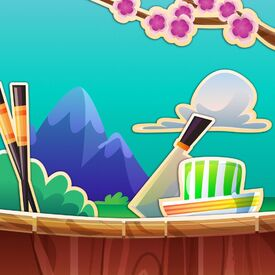 Candy Sushi Stand background