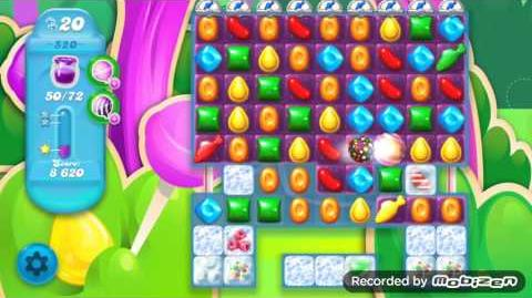 Candy Crush Soda Saga Level 520 (nerfed, 3 Stars)