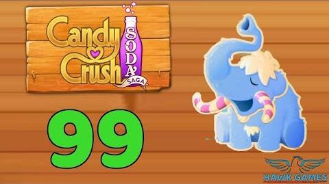 Candy Crush Soda Saga Level 99 (Frosting mode) - 3 Stars Walkthrough, No Boosters