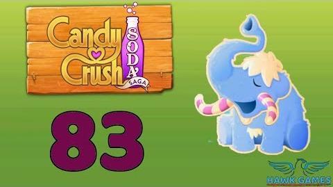 Candy Crush Soda Saga Level 83 Hard (Frosting mode) - 3 Stars Walkthrough, No Boosters