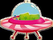 Flying Saucer cardboard