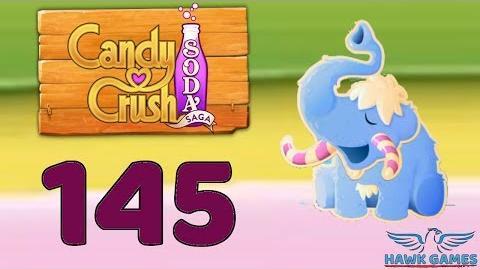 Candy Crush Soda Saga 🍾 Level 145 Hard (Frosting mode) - 3 Stars Walkthrough, No Boosters