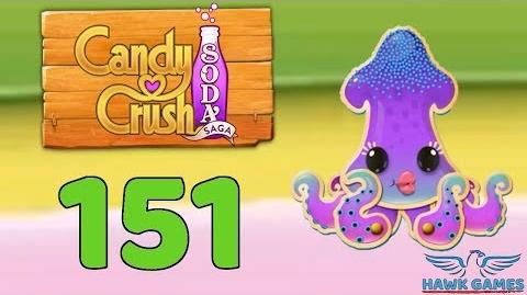 Candy Crush Soda Saga 🍾 Level 151 (Soda mode) - 3 Stars Walkthrough, No Boosters