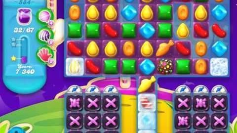 Candy Crush Soda Saga Level 584 (nerfed, 3 Stars)
