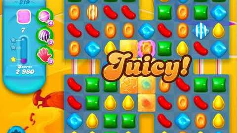 Candy Crush Soda Saga Level 219 (2nd buffed, 3 Stars)