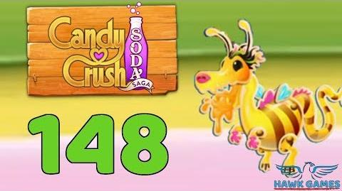 Candy Crush Soda Saga 🍾 Level 148 (Honey mode) - 3 Stars Walkthrough, No Boosters