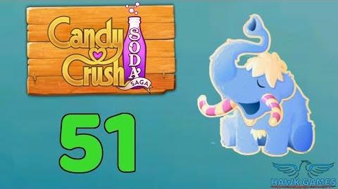 Candy Crush Soda Saga Level 51 (Frosting mode) - 3 Stars Walkthrough, No Boosters