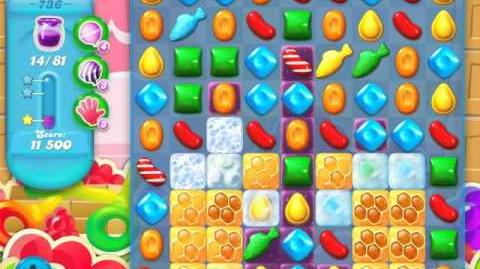 Candy Crush Soda Saga Level 736 (buffed, 3 Stars)